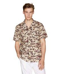 BENETTON (mens)/総柄半袖オープンカラーシャツ/502039366