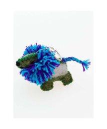 CAYHANE/【チャイハネ】ボンバーヘアー犬キーホルダー ブルー/502086750