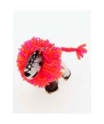 CAYHANE/【チャイハネ】ボンバーヘアー犬キーホルダー ピンク/502086751