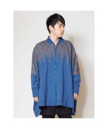 CAYHANE/【チャイハネ】ジオメ柄ビッグシルエットジャケット ブルー/502089301