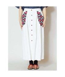 CAYHANE/【チャイハネ】yul アフリカンポケットスカート ホワイト/502095024