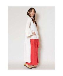 CAYHANE/【チャイハネ】yul 刺繍ハイローヘムカーディガン ホワイト/502095035