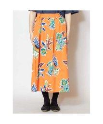 CAYHANE/【チャイハネ】メキシカンフラワースカート オレンジ/502095201