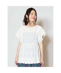 CAYHANE/【チャイハネ】yul 花刺繍カットワークコットントップス ホワイト/502095258