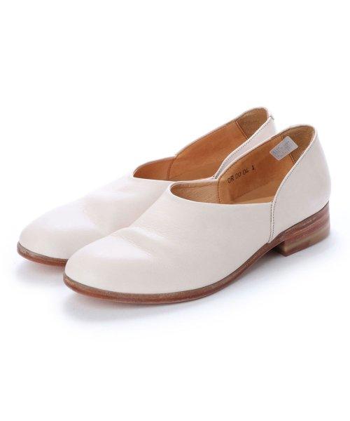 DIGOUT(ディガウト)/ディガウト DIGOUT CHET (Washed Side Slit Shoes) (WHITE)/DI4937BU00023
