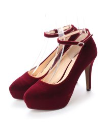 DIGOUT/ディガウト DIGOUT JANE (Ankle Strap Platform Pumps) (WINE RED)/502101984