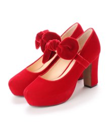 DIGOUT/ディガウト DIGOUT LYNSEY (Round Toe Platform Pumps) (RED)/502101992