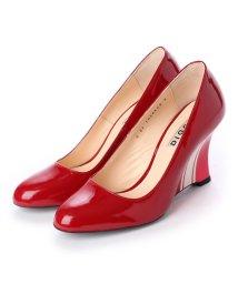 DIGOUT/ディガウト DIGOUT THERESA (Guitar Painted Wedge Heel Pumps) (RED)/502101997