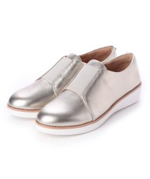 FITFLOP/フィットフロップ fitflop LACELESS ELASTIC DERBY - SHEER METALLIC LEATHER (Silver)/502114236