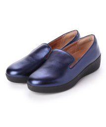 FITFLOP/フィットフロップ fitflop AUDREY METALLIC SMOKING SLIPPERS (Midnight Navy)/502114250