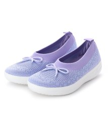 FITFLOP/フィットフロップ fitflop UBERKNIT SLIP-ON BALLERINA WITH BOW (Frosted Lavender Mix)/502114265