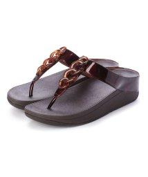 FITFLOP/フィットフロップ fitflop FINO TORTOISESHELL CHAIN (Chocolate Brown Turtle)/502114383