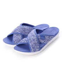FITFLOP/フィットフロップ fitflop ARTKNIT CROSS SLIDE (Illusion blue)/502114388
