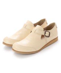 FOOT STYLE/フットスタイル FOOT-STYLE FS-3326 (ビスク) オブリークトゥ ストラップシューズ/502114444
