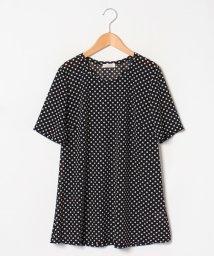 GUEST JOCONDE/【大きいサイズ/洗える】ドット柄ポリエステル チュニックTシャツ/502120783