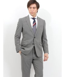 TAKA-Q/トラベスト/TRABEST 千鳥チャコールグレー 2ピーススーツ スリムフィット/502249569