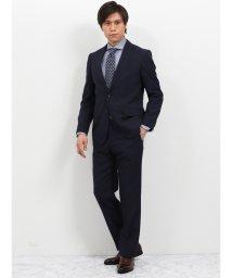 TAKA-Q/ウォッシャブル ストライプ紺 2パンツスーツ レギュラーフィット/502249570