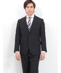 TAKA-Q/ウォッシャブル ストライプ黒 2パンツスーツ レギュラーフィット/502249571