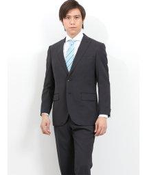 TAKA-Q/トラベスト/TRABEST ストライプチャコールグレー 2パンツスーツ レギュラーフィット/502249574