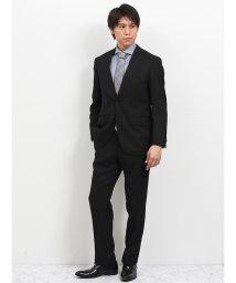 TAKA-Q/トラベスト/TRABEST ドビー黒 2パンツスーツ レギュラーフィット/502249576