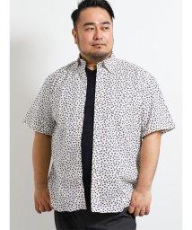 GRAND-BACK/【大きいサイズ】グランバック/GRAND-BACK 小花柄半袖ボタンダウンシャツ/502249617
