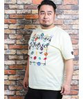 GRAND-BACK/【大きいサイズ】バジエ/VAGIIE プリントクルーネック半袖Tシャツ/502249682