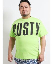GRAND-BACK/【大きいサイズ】ラスティ/RUSTY 天竺ロゴプリントクルーネック半袖Tシャツ/502249690
