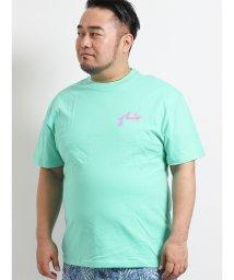 GRAND-BACK/【大きいサイズ】ラスティ/RUSTY 天竺バックプリントクルーネック半袖Tシャツ/502249692