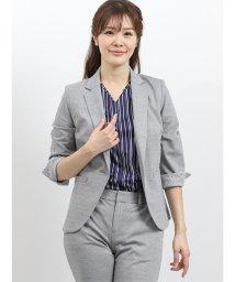 TAKA-Q/モクロディー セットアップ1釦7分袖ジャケット グレー/502249738
