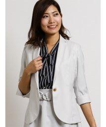TAKA-Q/ボンフォルト セットアップ1釦7分袖ジャケット ライトグレー/502249744