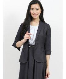 TAKA-Q/ホトフレッシュ/HOTOFRESH セットアップ1釦7分袖ジャケット 紺/502249747