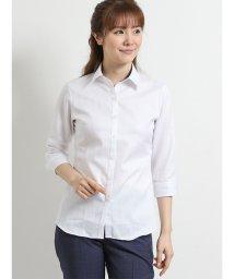 TAKA-Q/綿100%形態安定レギュラーカラースキッパー7分袖シャツ/502249790