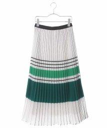 HIROKO BIS/【洗える】ボーダープリント プリーツスカート/502251487