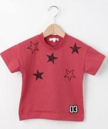 3can4on(Kids)/【抗菌防臭】【100cm~150cm】星スタンプTシャツ/502252852