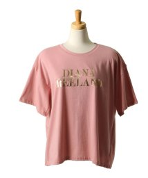 REAL STYLE/メタリック英字プリントTシャツ/502253266