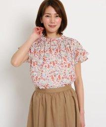 SunaUna/【洗える】小花プリント ハイネックシャツ/502253409