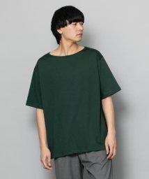 SENSE OF PLACE/ポンチボートネックTシャツ(5分袖)/502253761