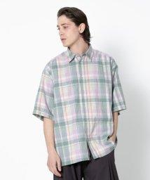 SENSE OF PLACE/マドラスチェックビッグシャツ(5分袖)/502253780