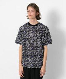 SENSE OF PLACE/レトロパターンTシャツ(5分袖)/502254370
