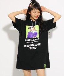 PINK-latte/転写 ワンピース/502255011