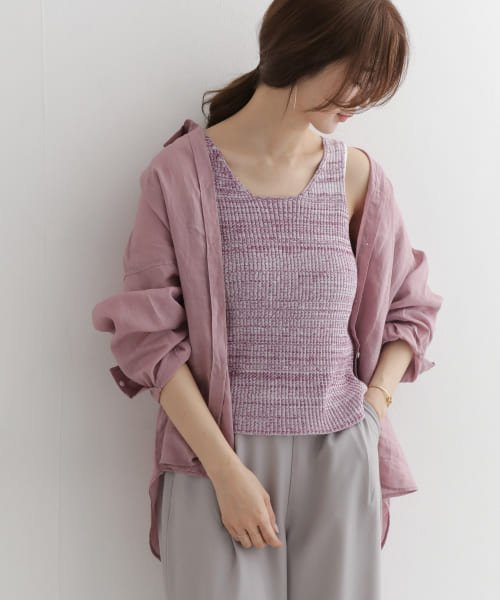 DOORS import Rib knit melange vest