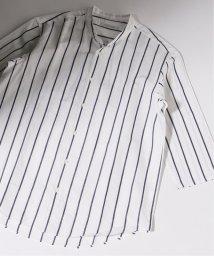 JOURNAL STANDARD/パターン バンドカラー C/L 7分袖シャツ/502255508