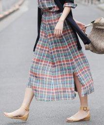 NIJYUSANKU/【マガジン掲載】LIBECO リネンロング スカート(検索番号K25)/502255624