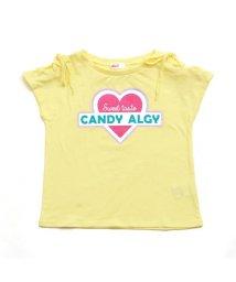 ALGY/レースアップスリーブTシャツ/501214500