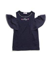 ALGY/シフォンスリーブパールTシャツ/501214504