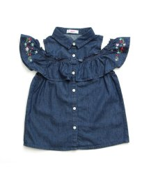 ALGY/フラワー刺繍肩あきシャツ/501214509