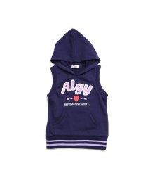 ALGY/サガラワッペンノースリパーカー/501214510
