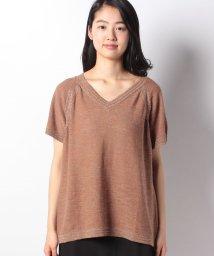 BENETTON (women)/コットンリネンラメ混半袖ニット・セーター/501940041