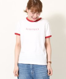 coen/リサイクルコットンリンガーロゴTシャツ/502037613