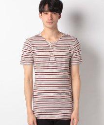 BENETTON (mens)/リネン混ヘンリーネック半袖Tシャツ・カットソー/502039369